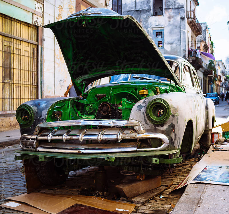 Preparing to paint car by J.R. PHOTOGRAPHY for Stocksy United