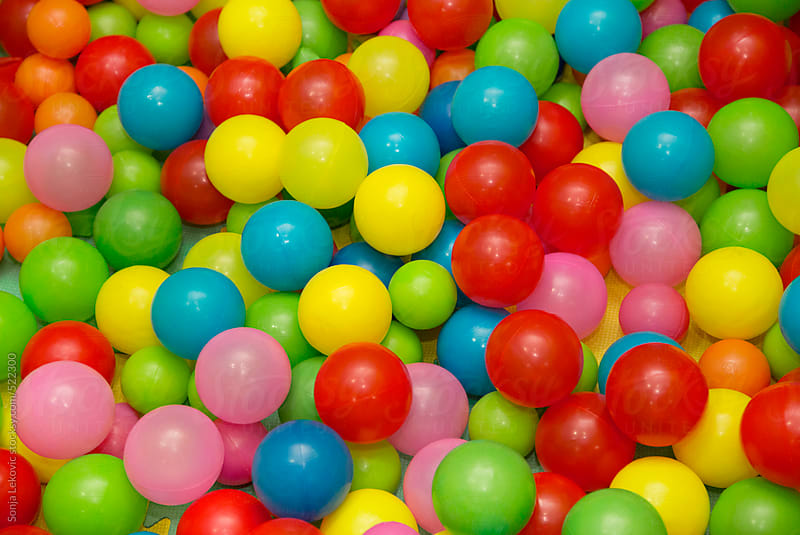 colorful balls background by Sonja Lekovic for Stocksy United
