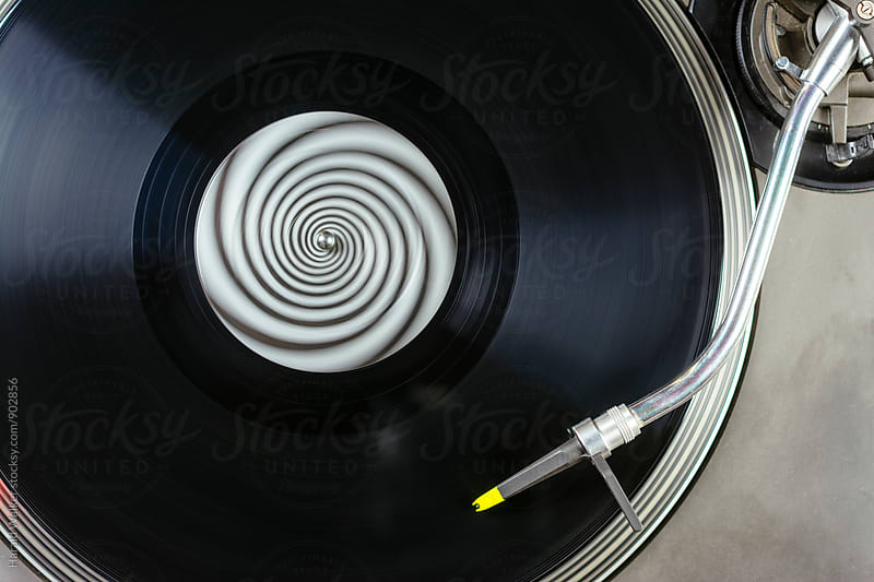 Record spinning by Harald Walker for Stocksy United
