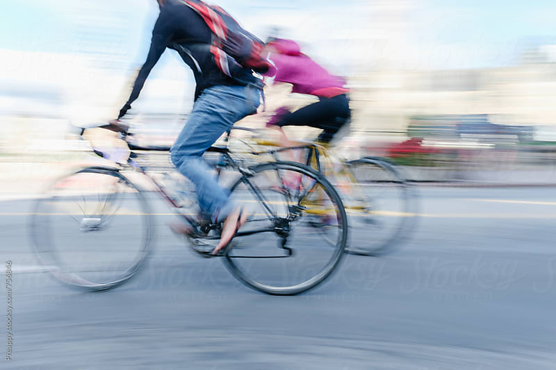 Cyclist in motion by Preappy for Stocksy United