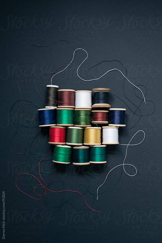 Tangled mess of threads.  by Darren Muir for Stocksy United