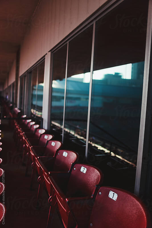 The inside of a baseball stadium during a game by Chelsea Victoria for Stocksy United