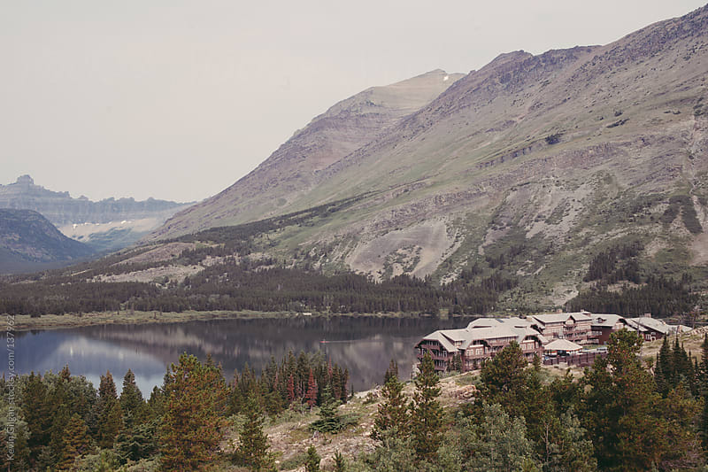 Many Glacier Hotel Overlook by Kevin Gilgan for Stocksy United