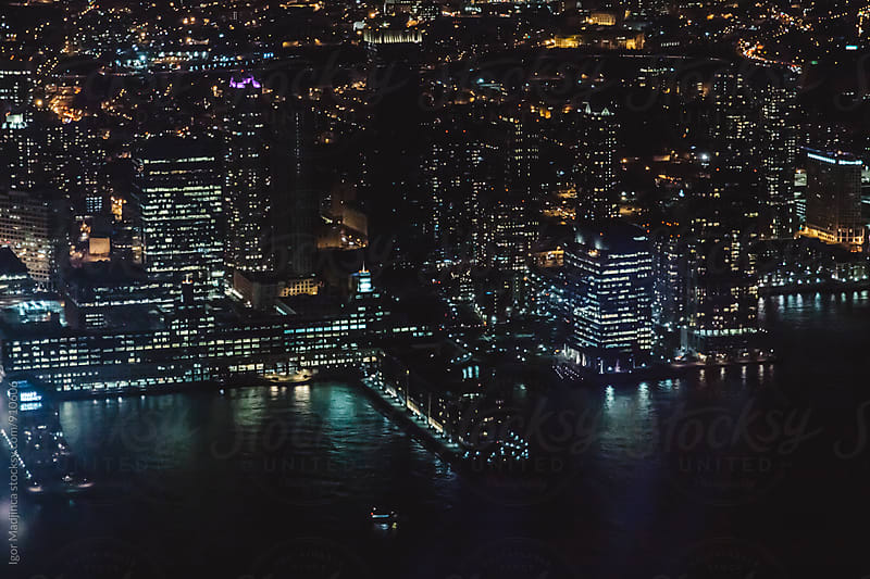 new york at night by Igor Madjinca for Stocksy United