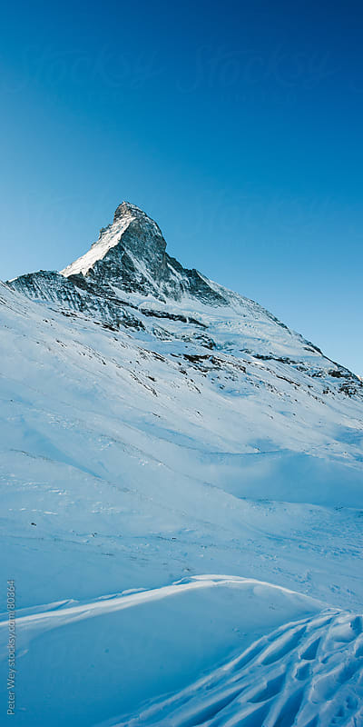 Matterhorn in Winter by Peter Wey for Stocksy United