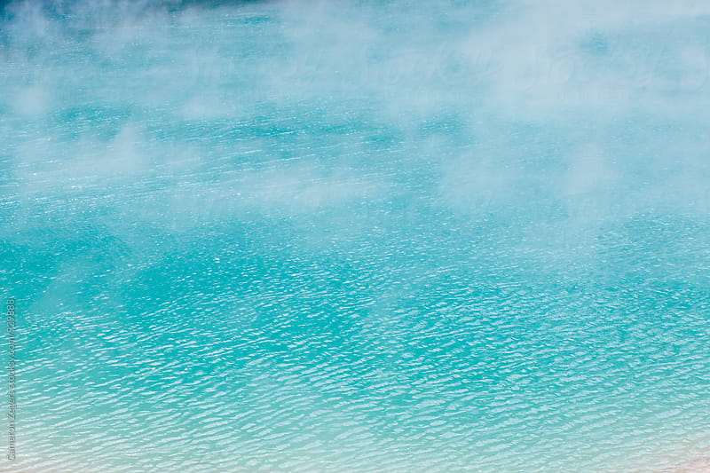 blue geothermal pool in New Zealand by Cameron Zegers for Stocksy United