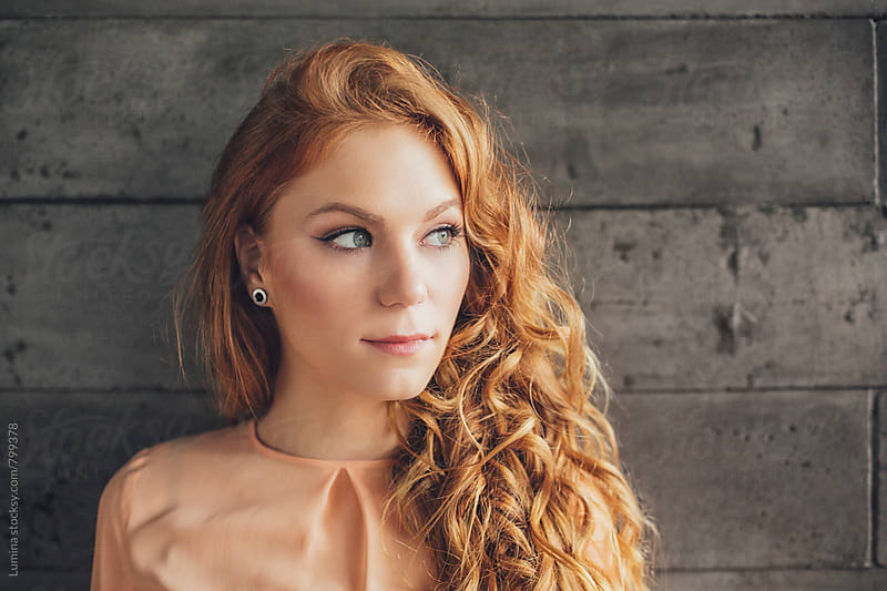 Portrait of a Ginger Woman by Lumina for Stocksy United