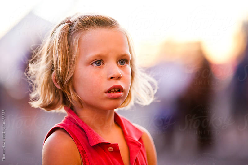Girl during Summer Sunset by Thomas Hawk for Stocksy United