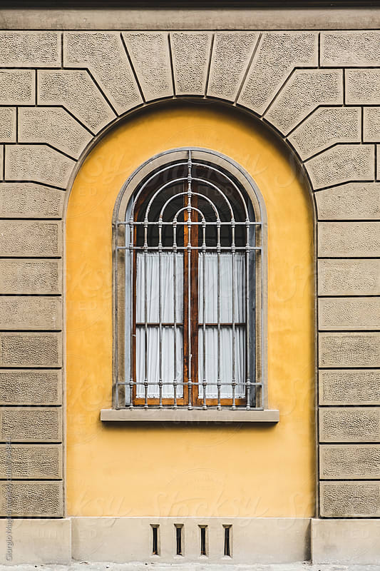 Elegant Window Under an Arch in Italy by Giorgio Magini for Stocksy United