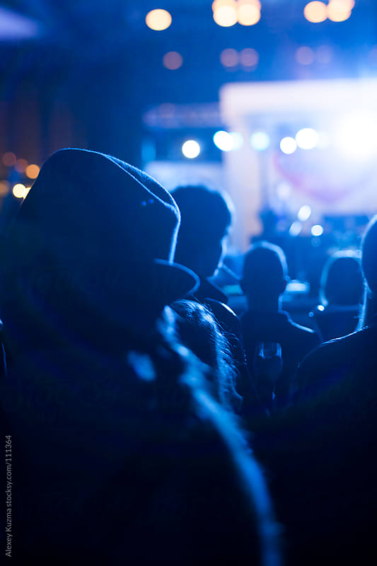 people on the live concert by Alexey Kuzma for Stocksy United