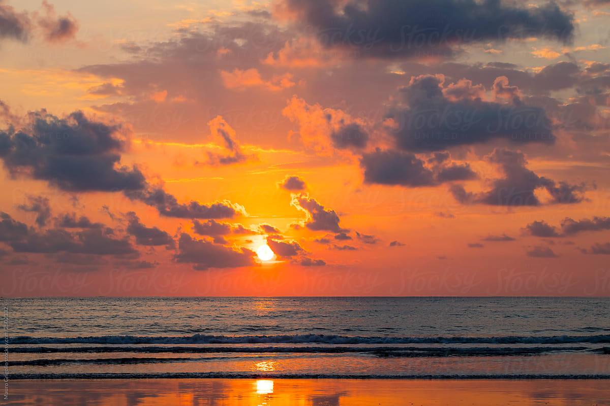 Amazing Sunset Background By Mauro Grigollo Stocksy United