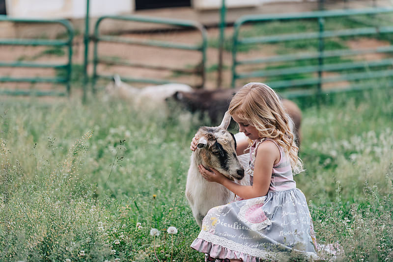 farm girl by Melanie DeFazio for Stocksy United