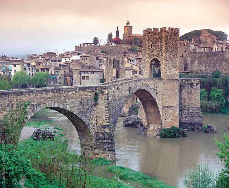 Medieval Bridge, 11st Century, Besalu, La Garrotxa, Girona, Catalunya, Spain by Gavin Hellier for Stocksy United