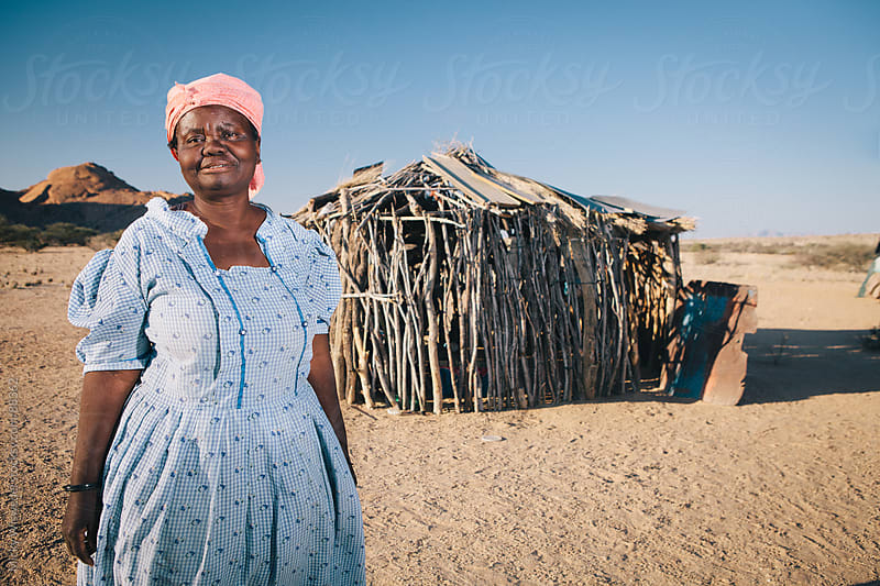 Portrait of an African Damara woman, Namibia by Micky Wiswedel for Stocksy United