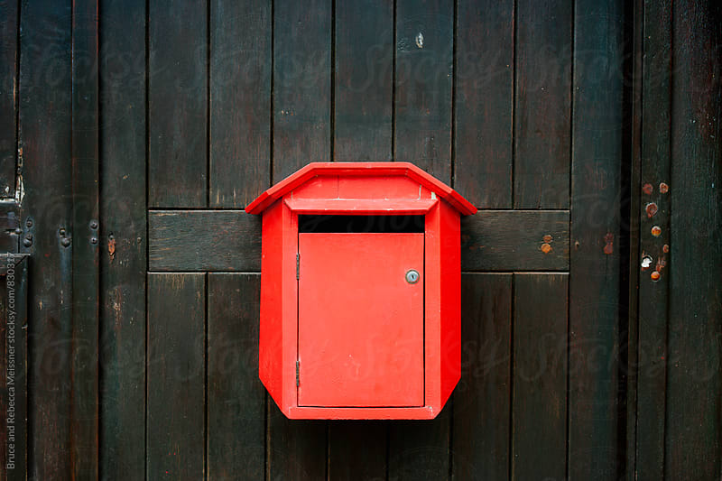 Classic Red Post Box by Bruce and Rebecca Meissner for Stocksy United