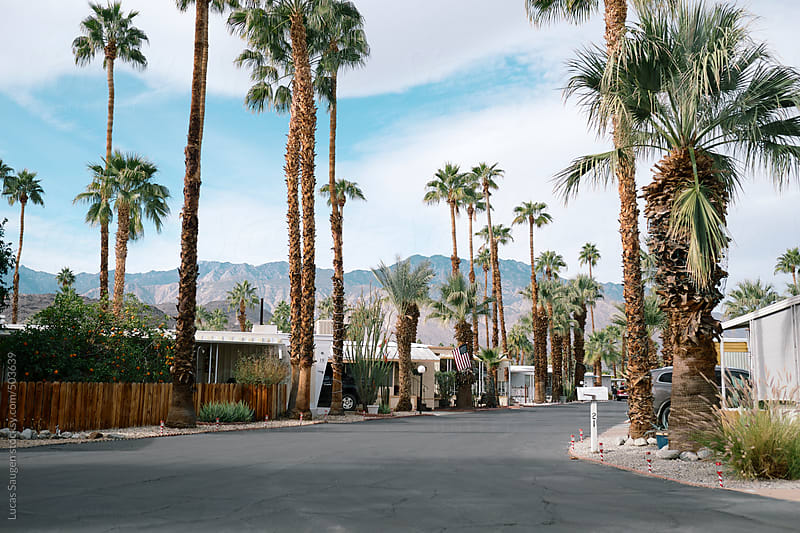 Funny little trailer park in Palm Springs. by Lucas Saugen for Stocksy United