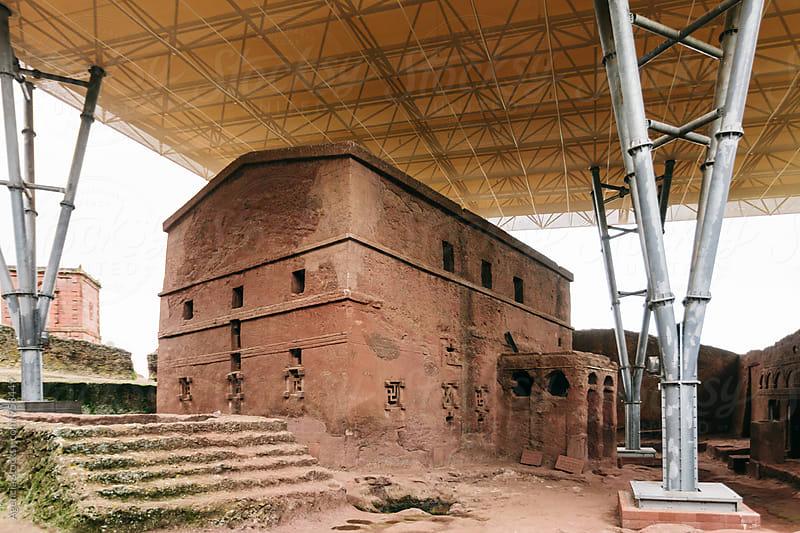 Ethiopian Rock Hewn Church by Agencia for Stocksy United