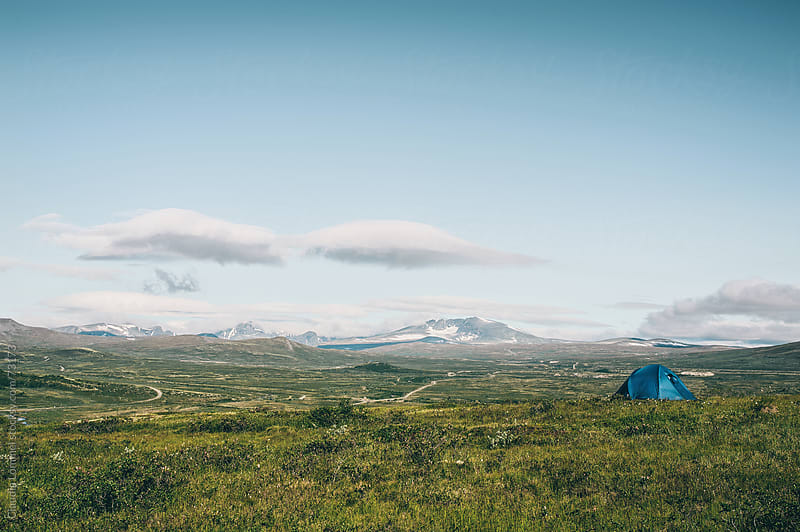 Solitary Tent in the Wilderness of Norway by Claudia Lommel for Stocksy United