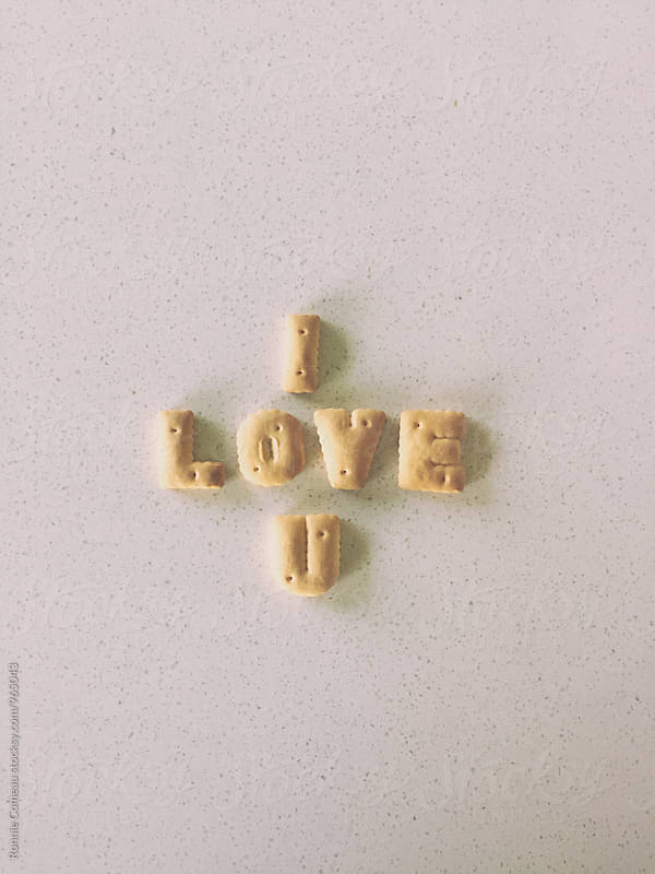 Cookie Note - I Love You by Ronnie Comeau for Stocksy United