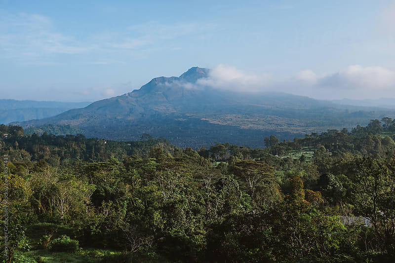 Volcanos of Bali by Alexander Grabchilev for Stocksy United