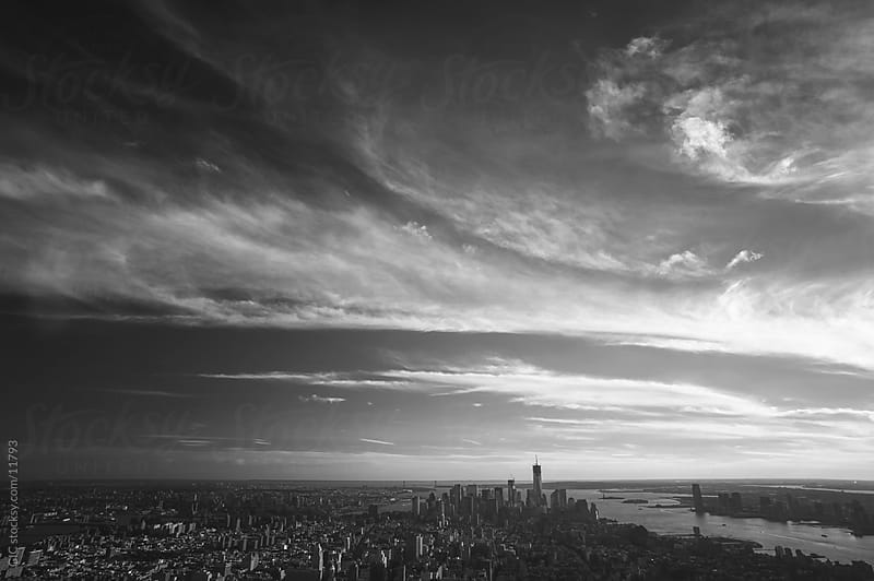 Black and white New York cityscape by GIC for Stocksy United