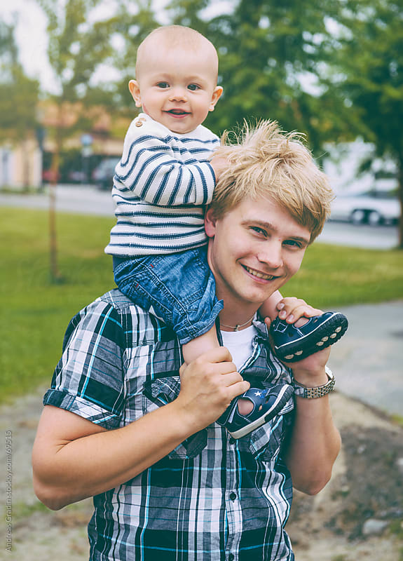 father and his son by Andreas Gradin for Stocksy United