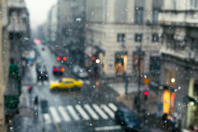 Street on a Rainy Day by Lumina for Stocksy United