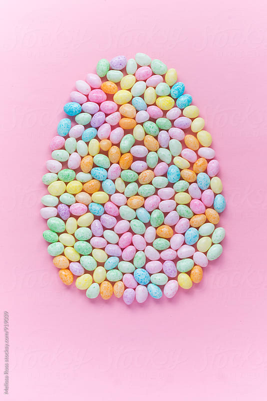 Pastel speckled jelly beans. by Melissa Ross for Stocksy United