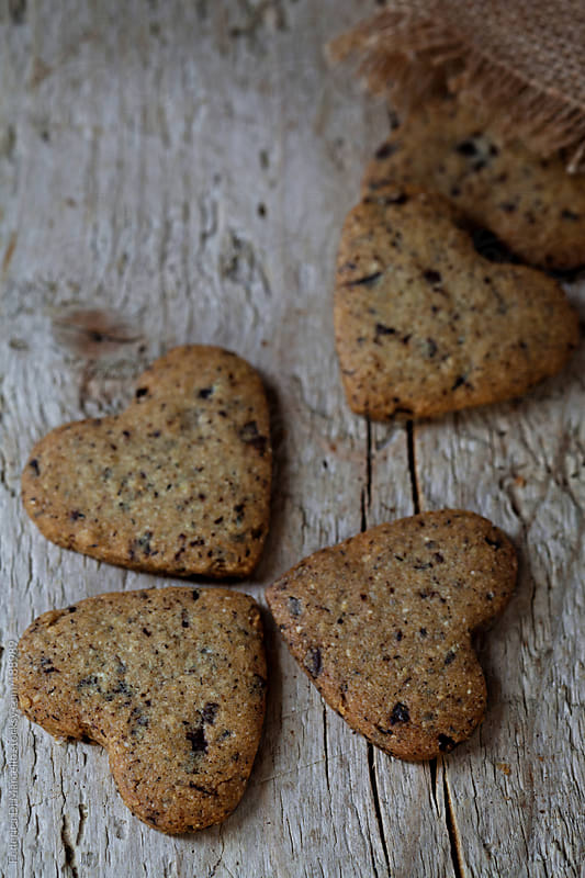 Spelt, corn and buckwheat cookies by Federica Di Marcello for Stocksy United