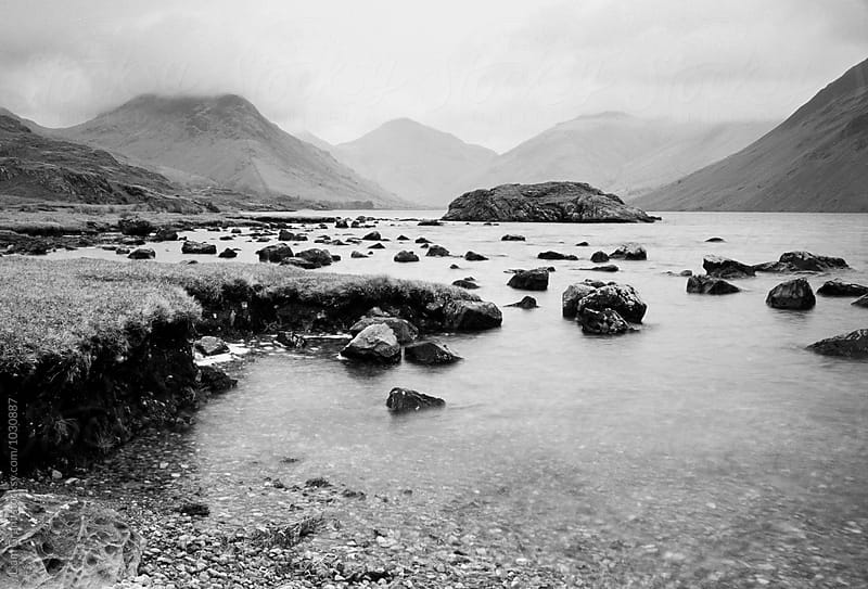 Rainclouds over Wast Water. Cumbria, UK. by Liam Grant for Stocksy United