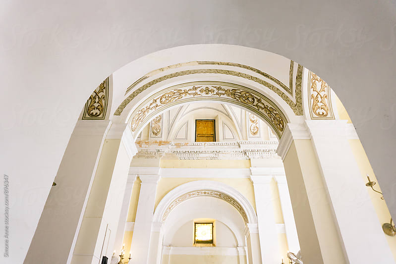 Church arches and ceiling by Simone Anne for Stocksy United