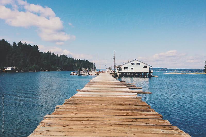 Long Wooden Dock by Jeff Marsh for Stocksy United