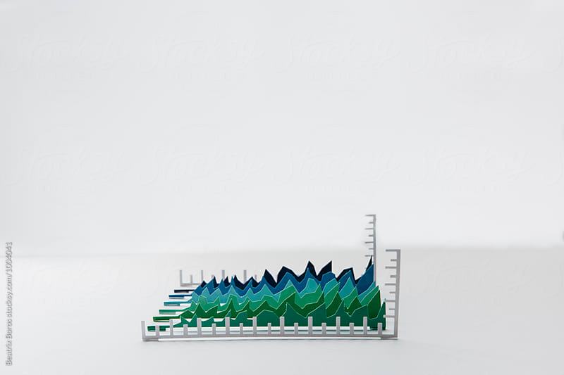 3D graphs made of paper by Beatrix Boros for Stocksy United
