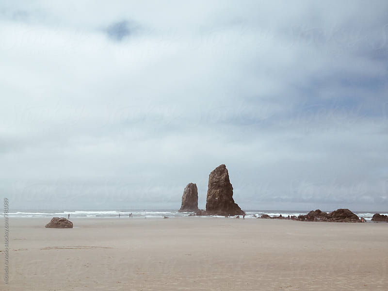 Rocks on the Cannon Beach, Oregon. by michela ravasio for Stocksy United
