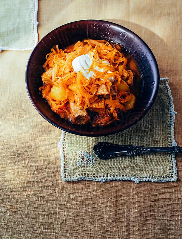 Sauerkraut Beef Goulash by J.R. PHOTOGRAPHY for Stocksy United