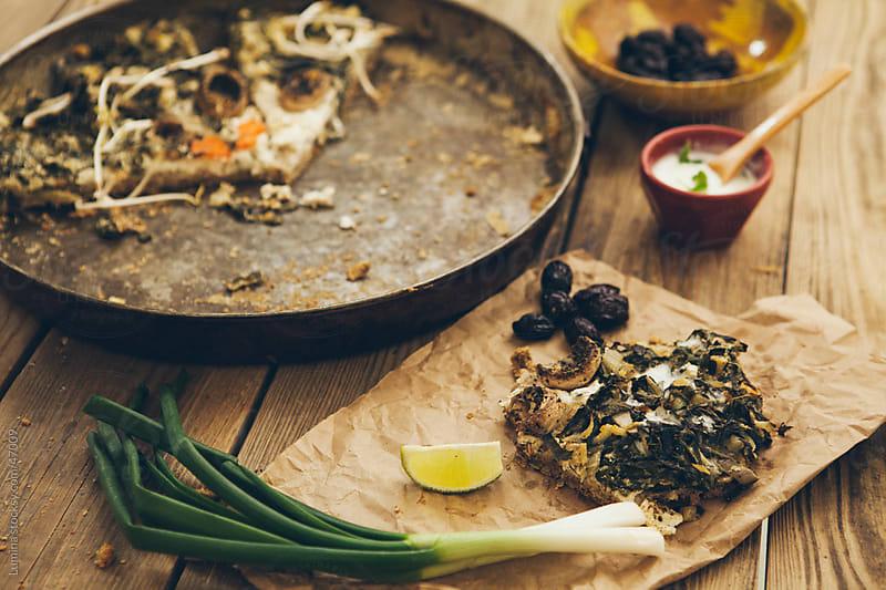 Green Vegetarian Pizza by Lumina for Stocksy United