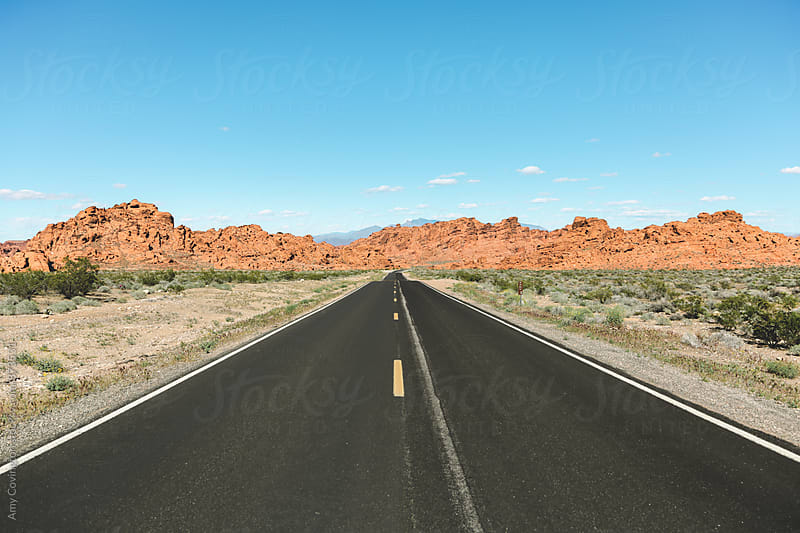 Road leading to the Valley of Fire  by Amy Covington for Stocksy United