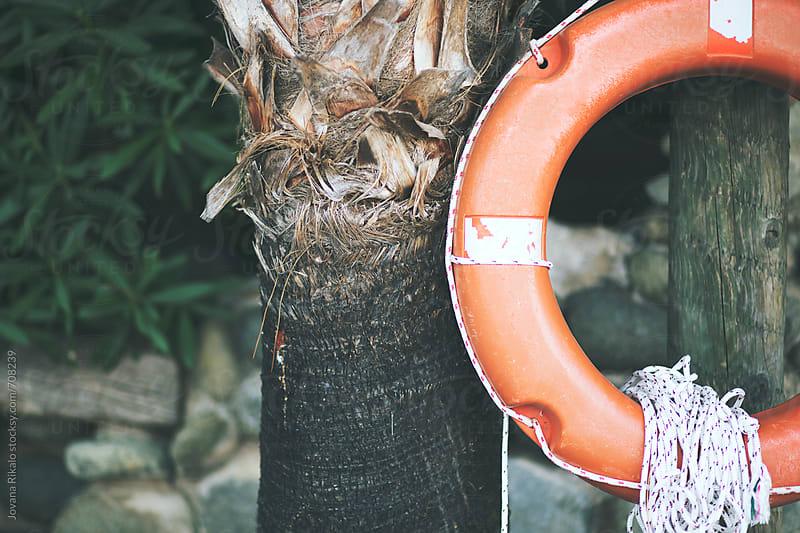 Orange life preserver close up by Jovana Rikalo for Stocksy United