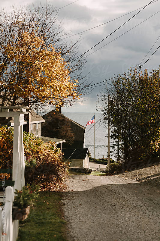 Rural Road on Maine Coast by Raymond Forbes LLC for Stocksy United