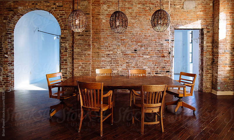 eclectic cool conference room by Brian Powell for Stocksy United