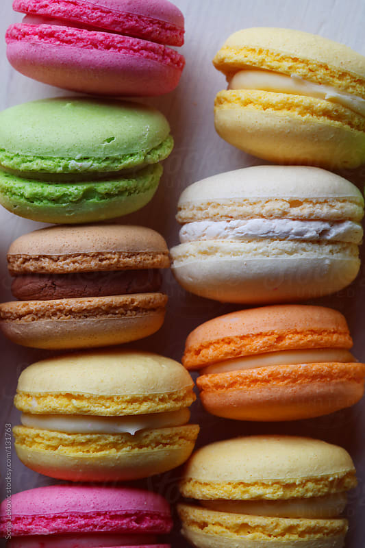 french macaroons by Sonja Lekovic for Stocksy United