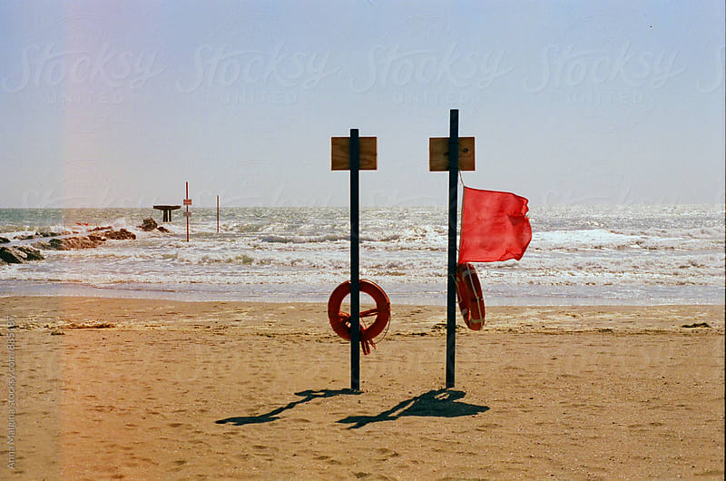 A film photo of empty Venice beach on stormy day by Anna Malgina for Stocksy United
