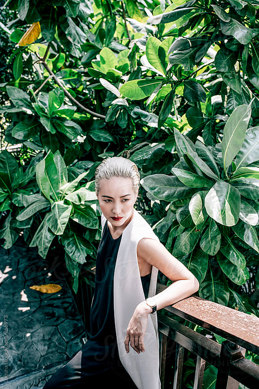 Portrait of a Asian Fashion Model by Lumina for Stocksy United