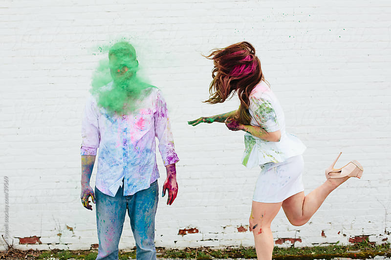 fun with Holi colors by Brian Powell for Stocksy United