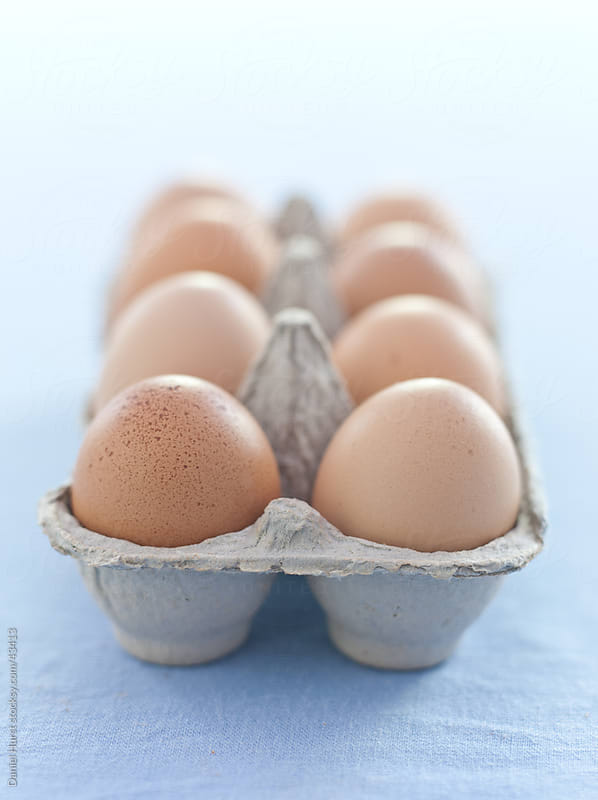 Fresh eggs by Daniel Hurst for Stocksy United