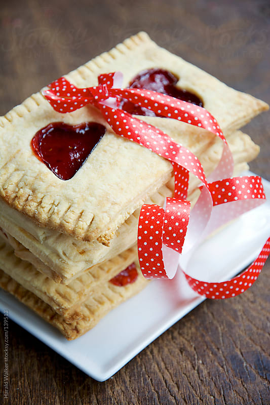 Toaster pastries for Valentine's Day by Harald Walker for Stocksy United