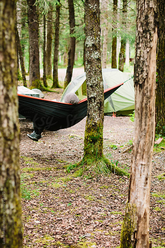 Hammock In The Woods by Luke Mattson for Stocksy United