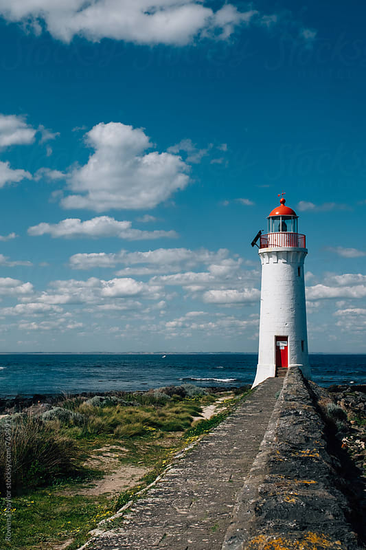 Port Fairy Lighthouse by Rowena Naylor for Stocksy United