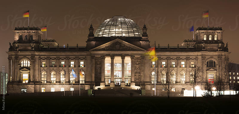Reichstag - German parliament building in central Berlin by Mima Foto for Stocksy United