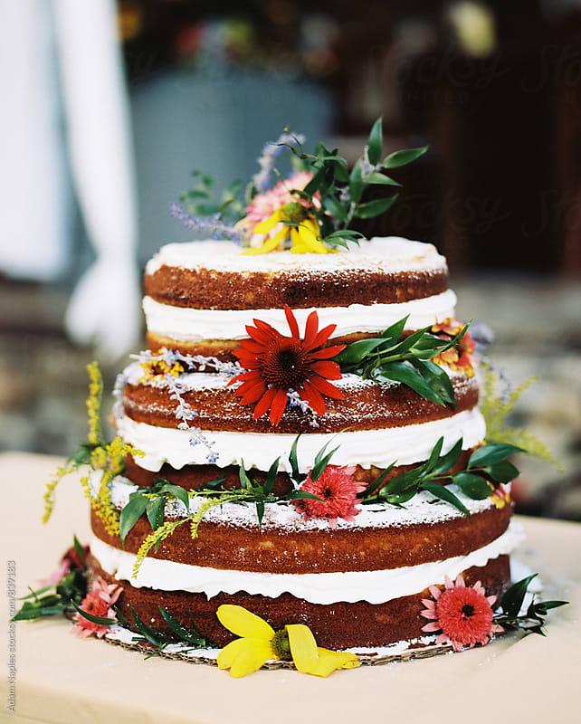 Elegant Wedding Cake by Adam Naples for Stocksy United